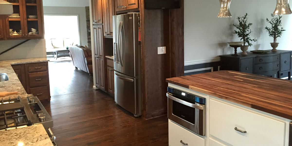We offer a full service kitchen remodel.